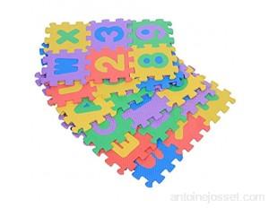 Puzzle Tapis de Jeu 36 Pcs Doux EVA Mousse Tapis De Jeu Chiffres et Lettres Motif Tapis De Jeu en Mousse pour Bébé Enfants Enfants Jouant Rampant