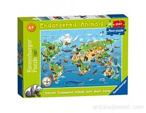 Ravensburger Puzzle Animaux menacés 60 pièces pour Enfants à partir de 4 Ans