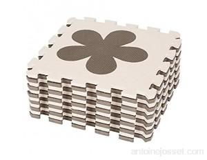 Tapis Puzzle Mousse Bébé 24 Pièces Dalle Mousse Bébé avec 6 Modèles de Dessin Animé Matériel: EVA Épaisseur 1cm 24 Pièces