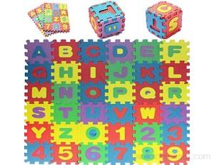 Trimming Shop Tapis de jeu puzzle en mousse - Extra épais - Doux - Non toxique - Pour enfants - 36 pièces - Multicolore - Taille XL