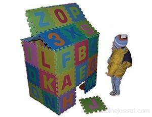 86 pièces Puzzle Tapis Jeu Mousse 180x180cm Chiffre et Alphabet Jouet Educatif pour enfants