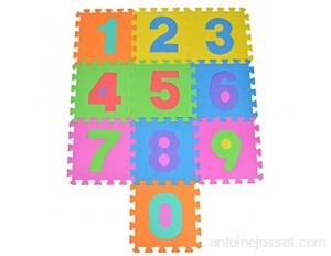 Puzzlestar 123 Tapis Puzzle 10 pièces pour Enfants en EVA antidérapant - Le Grand Tapis de Jeu Peut être assemblé Chaque pièce est de 30 x 30 x 1 cm - Tapis Puzzle pour Enfants avec Chiffres