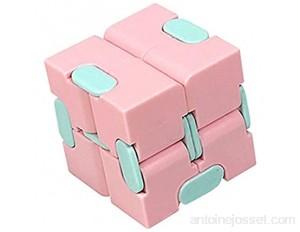 GWGW Puzzle de décompression de Cube Rubik Quatre - Plaque d'aspiration d'angle Maze Brain Roller Module de TournageRose