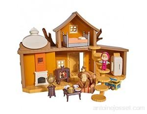 Simba - 109301032 - Masha & Michka - Maison de Masha 2 Etages + Accessoires