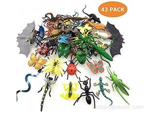 GuassLee 43 Pack Mini Insectes Réalistes Faux Bugs Jouets pour Enfants