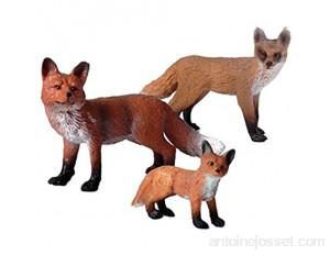 STOBOK 3pcs Figurines de Jouet Renard Ensemble Figurines réalistes d'animaux de la Faune Jouet pour Enfants en Bas âge Renard Arctique et Renards Roux gâteau Toppers