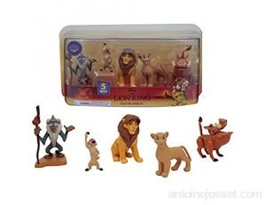Le Roi Lion Coffret 5 figurines avec Simba Nala Pumbaa Timon Rafiki Jouet pour enfants dès 3 ans LNN09